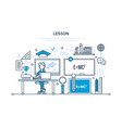 education learning school university lesson vector image vector image