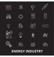 energy industry editable line icons set on vector image vector image
