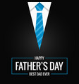 fathers day card on black background vector image vector image