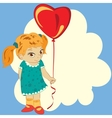 girl with balloon vector image