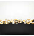 gold jewelry frame and pearls vector image vector image