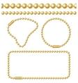 golden chain ball links set vector image vector image