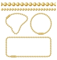 Golden Chain of Ball Links Set vector image vector image
