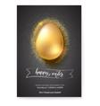 golden egg on glittering dust for celebration vector image vector image