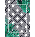 green summer with tropical leaves on pattern strip vector image