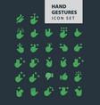 hand gestures icon set vector image