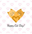 happy cat day gift card vector image vector image
