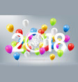 happy new year 2018 celebration colorful balloon vector image vector image