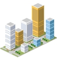 Isometric in a big city vector image vector image