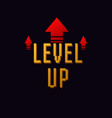 lvl up new level logo vector image vector image