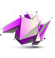 Magenta spatial lattice technology construction vector image vector image
