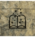 Magic Book icon symbol Flat modern web design with vector image vector image