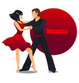 mambo dancers in cartoon style vector image vector image