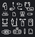 mobile phone concept icons vector image vector image