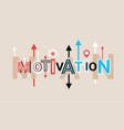 motivation creative word over abstract geometric vector image