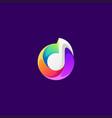 music logo design vector image vector image