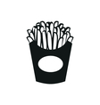 potato fries simple black icon on white background vector image vector image