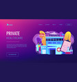 private healthcare concept landing page vector image vector image