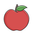 red organic apple design vector image vector image