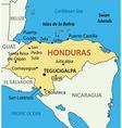 Republic of Honduras - map vector image
