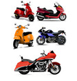 set city scooters vector image vector image