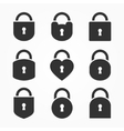 Set of Lock Icon Lock Icon Lock Icon Flat vector image