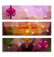 Set of three banners with bow vector image vector image