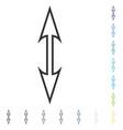 size arrow vertical icon vector image