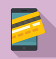 smartphone credit card icon flat style vector image vector image