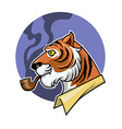 Smoking Tiger vector image vector image