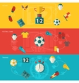 Soccer icons flat vector image vector image