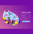 special agent login page vector image vector image