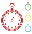 Stopwatch Set of line icons vector image vector image