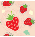 strawberry floral vector image vector image