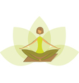 Stylized yoga lotus pose vector image vector image