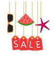summer sale - background with icons vector image