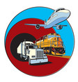 transportation badge vector image