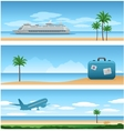travel around worl background vector image