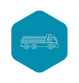truck icon outline style vector image vector image