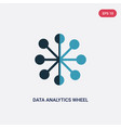two color data analytics wheel icon from user vector image vector image