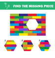 visual logic puzzle find missing piece - puzzle vector image vector image