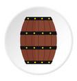 wine wooden barrel icon circle vector image vector image