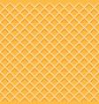 yellow waffle seamless pattern vector image