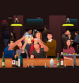 young people having fun in a bar vector image vector image