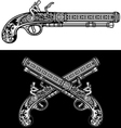 Flintlock Antique Pistol vector image