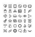 Web line icon set Thin icons vector image