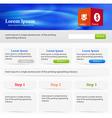 Web site elements vector image