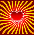red heart symbols the sign of love and valentines vector image