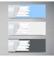 banner set Colorful line Strips vector image