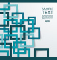 3d square geometric background from blue paper vector image vector image
